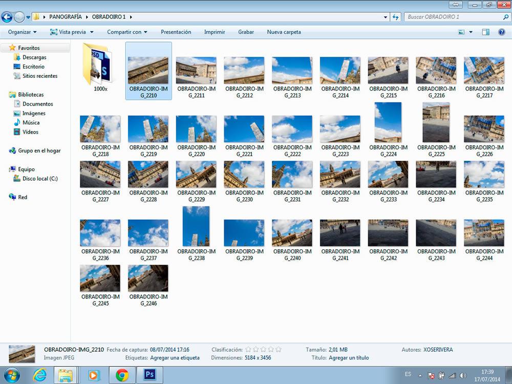 Fotografías para crear unha Panografía
